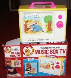 Childhood Memory Keeper: Retro Pop Culture from the 1960s, 1970s and 1980s: Winnie the Pooh Music Box TV