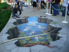 Koi Pond, created by internationally recognized street painting artist Rod Tryon.