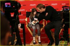 """Alexander Skarsgård and Onata Aprile, during """"What Maisie Knew"""" promotion"""
