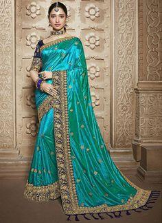 Designer Sarees Wedding, Indian Designer Sarees, Saree Wedding, Wedding Wear, Bridal Sari, Maroon Wedding, Wedding Reception, Blue Silk Saree, Art Silk Sarees
