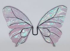 colored celephane wings | Amalthea Fairy Wings in opal Iridescent by MidsummerDreams on Etsy