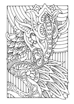 Coloring page dragon - coloring picture dragon. Free coloring sheets to print and download. Images for schools and education - teaching materials. Img 25600.