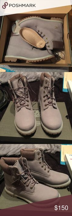Limited edition gray tims Limited edition tims!! Brand new never been worn! Timberland Shoes Ankle Boots & Booties