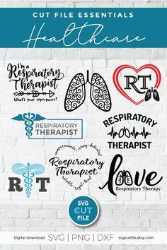 Respiratory therapist svg, RT svg, bundle svg for Cricut Respiratory Therapy, Registered Respiratory Therapist, Lung Cancer, Occupational Therapist, Custom Items, Svg Files For Cricut, Svg Cuts, School Design, Design Bundles