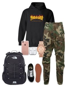 """""""Untitled #304"""" by kingrabia on Polyvore featuring WithChic, R13, FOSSIL, Belkin, Vans and The North Face"""