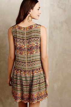 Embellished Drop-Waist Dress