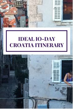 Starting from Zagreb to Dubrovnik, this itinerary gives you detailed information on how to get from Zagreb to Plitvice Lakes, to Zadar, Split, Hvar, and finally Dubrovnik...all in 10 days!