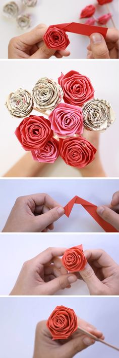 DIY Rose – Paper Tutorial – Neesly