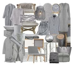 """""""G r e y"""" by julietv ❤ liked on Polyvore featuring interior, interiors, interior design, home, home decor, interior decorating, Cole & Son, Zweed, Warehouse and Acne Studios"""