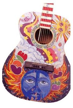 Dreams Painted Guitar
