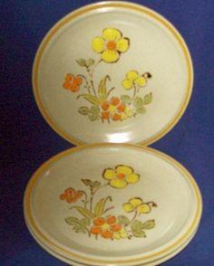 4 Hearthside Stoneware Garden Festival \  Sunshine Flowers\  Salad Plates 7 3 ... & 2 Color Stone by NIKKO 10.5\