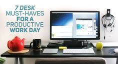 Do you struggle to be productive at work? Here are 7 things to keep at your desk that might help!