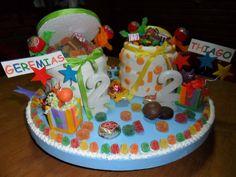 Torta CARAMELERAS para mellizos