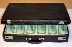 I always wanted a briefcase full of money, and now I can - in cake!