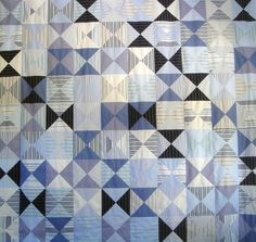 Patchwork quilt made from recycled shirts