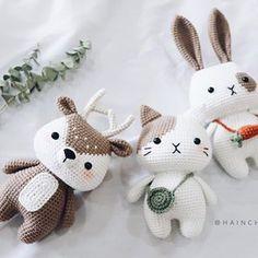 This is a PDF crochet pattern, not a finished doll.Little Deer is written in ENGLISH– Size approx: inch).– Yarn: Sport or Dk light weight yarn. ( I used Yarn Art Jeans )– Hook: Crochet Animal Patterns, Stuffed Animal Patterns, Crochet Patterns Amigurumi, Crochet Animals, Crochet Dolls, Doll Patterns, Kawaii Crochet, Crochet Bunny, Cute Crochet