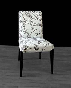Grey Flower Henriksdal Seat Cover Vintage Blossom Dove