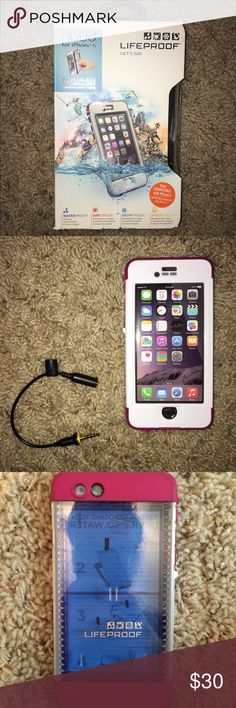 IPhone 6 lifeproof nuud I used this for 1 week in the Bahamas! It worked great! But again, I now I have the iPhone 7 so this is of no value to me. It also has a screen protector and the connector for the auxiliary cord LifeProof Other