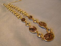 Necklace Autumn theme by MONET - Princess length - vintage Retro by StitchInTimeJewelry on Etsy #vintagejewelry, #etsyshop #etsyfinds