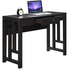 Convenience Concepts Designs2Go Newport Laurel Desk ($300) ❤ liked on Polyvore featuring home, furniture and desks