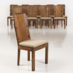 Piasa axel einar hjorth (1888-1959)  lovö  ensemble de dix chaises  pin et métal  edition nordiska kompaniet