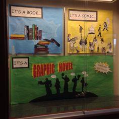 Graphic novel display - comic panels