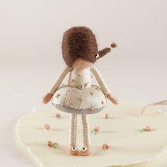 Wet Felting, Needle Felting, Fairy Dolls, Dusty Pink, Faeries, Pink Roses, Miniatures, Crafty, Christmas Ornaments