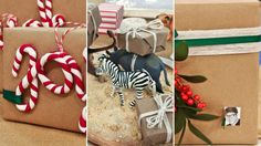 5 Crafty Gift Wrapping Ideas… with Craft Paper! | Steven and Chris | Forget the frou-frou wrapping paper this year: craft paper is elegant, versatile and cheap!