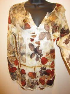 Natural prints on wool sweater. blog http://terriekwong.blogspot.hk/2013/11/amazing-prints.html