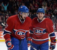 Alex Galchenyuk #27 and Brendan Gallagher #11 Montreal Canadiens