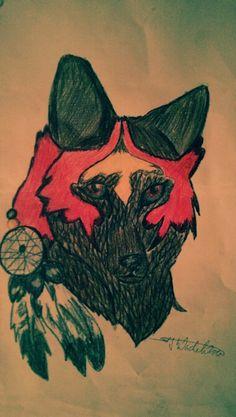 Dream catcher Wolf