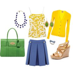 slight obsession with yellow & green...