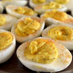 ~C~ *Southern Deviled Eggs.  I looove deviled eggs...add a little celery seed and that's Granny's! CRuebel