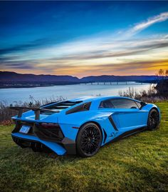 Lamborghini Aventador Super Veloce Coupe painted in Blu Cepheus  Photo taken by: @drivingforceclub on Instagram