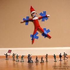 Hostage elf on a shelf