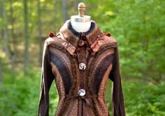 Hey, I found this really awesome Etsy listing at https://www.etsy.com/listing/232680576/tailored-patchwork-brown-sweater-coat