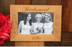 10 Personalized Bridesmaid Gifts Will You Be My Bridesmaid Frame Bridesmaid Thank You Gift Bridesmaid Proposal Maid of Honor Flower Girl Bridesmaids And Mother Of The Bride, Will You Be My Bridesmaid Gifts, Wedding Thank You Gifts, Asking Bridesmaids, Bride Sister, Wedding Picture Frames, Wedding Frames, Wedding Pictures, Maid Of Honour Gifts