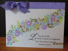 Good use for all your little flower stamps!!