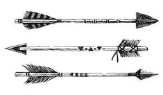 arrows in tribal style on white background arrow tattoo Indian Arrow Tattoo, Native American Arrow Tattoo, Feather Arrow Tattoo, Indian Feather Tattoos, Future Tattoos, Tattoos For Guys, Simple Unique Tattoos, Arrow Tattoo Design, Arrow Design