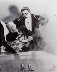 Mask maker, Don Post, reads his favourite magazine while a friend looks on. Sci Fi Films, Horror Films, Monster Toys, Famous Monsters, Bride Of Frankenstein, Best Horrors, Classic Monsters, Vintage Horror, Creature Feature