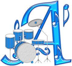 Alfabeto Decorativo: Alfabeto - Musical 2 - PNG - Letras - Maiúsculas e...