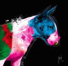 multicolored Bully)) #Bull #Terrier #Dog #Dogs #Puppy #Pups #Animals