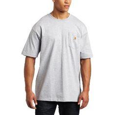 Carhartt Men's Workwear Tee, Heather Grey, Large Regular (Apparel)