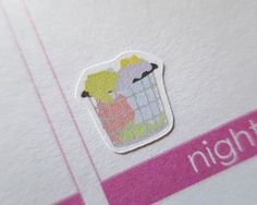 blanchisserie 60 autocollants | Planner Stickers conçu pour une utilisation avec Erin Condren Life Planner | 0062
