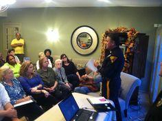 Captain Miller presenting.