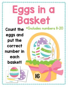 Mrs. Gilchrist's Class: EASTER FREEBIES:  Eggs in a Basket Counting Activi...