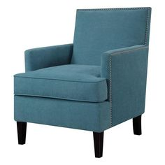 Hampton Park Colton Accent Chair in Blueberry - Dual Purpose Accent Chair, Perfect for Curling Up With a Good Book, and For Adding a Contrast To Your Living Area or Bedroom