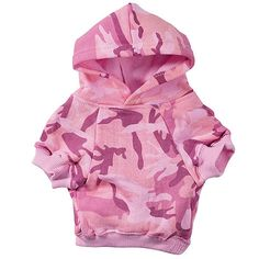 Casual Canine Camo Dog Hoodie Pink Dog Clothes