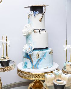 Congratulations 🎓 Class of 2019 Cake Stand: Styled & Designed: Photos: Cake: Desserts/Sweets: Floral: Balloons: Furniture Rental: Decal & Cutouts: . Chandelier Cake Stand, Dessert Stand, Dessert Tables, Metal Cake Stand, Cake Table Decorations, Event Lighting, Sweet 16, Event Design, Congratulations
