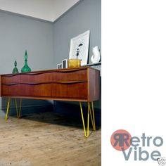 Mid-century-Vintage-Retro-Austinsuite-Sideboard-Sitting-on-Yellow-Hairpin-Legs